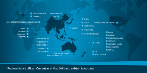 *Representative offices. Current as at May 2013 and subject to updates